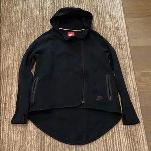 Nike Sz S High-Low Hoodie Jacket